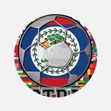 "Belize Flag World Cup Footbal 3.5"" Button"