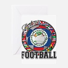 Belize Flag World Cup Footbal Greeting Card