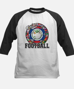 Belize Flag World Cup Footbal Kids Baseball Jersey