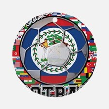 Belize Flag World Cup Footbal Ornament (Round)