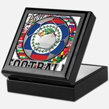 Belize Flag World Cup Footbal Keepsake Box