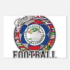 Belize Flag World Cup Footbal Postcards (Package o
