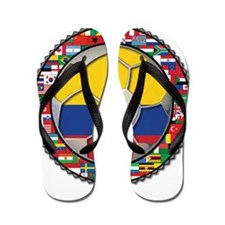 Colombia Flag World Cup No La Flip Flops