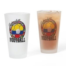 Colombia Flag World Cup Footb Drinking Glass