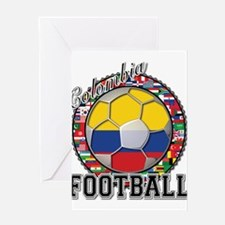 Colombia Flag World Cup Footb Greeting Card