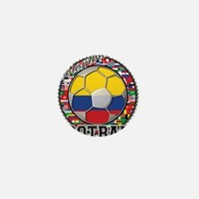 Colombia Flag World Cup Footb Mini Button