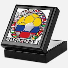 Colombia Flag World Cup Footb Keepsake Box