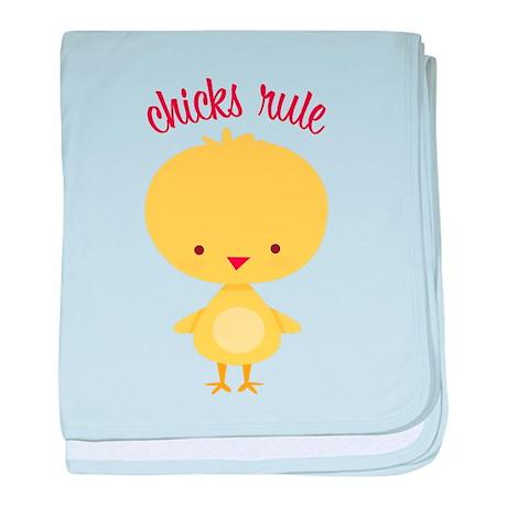 Chicks Rule baby blanket