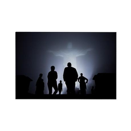 Jesus Light Rectangle Magnet (100 pack)