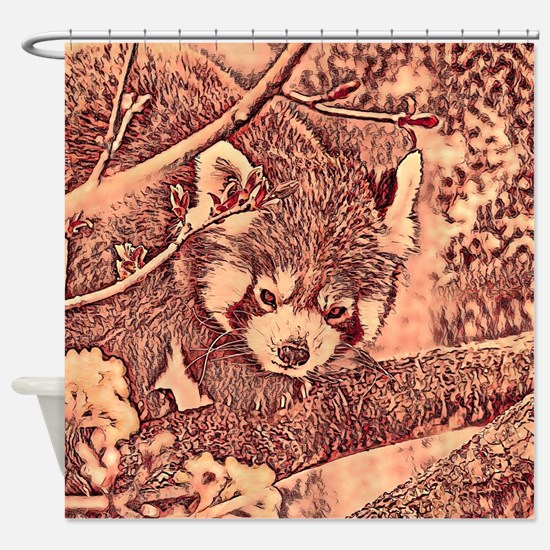 RedPanda_20170601_by_JAMColors Shower Curtain