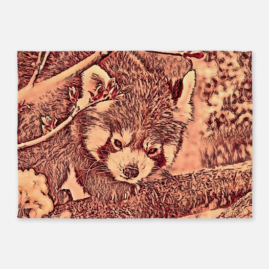 RedPanda_20170601_by_JAMColors 5'x7'Area Rug
