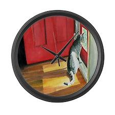 Door Cat Quigley Large Wall Clock