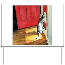 Door Cat Quigley Yard Sign