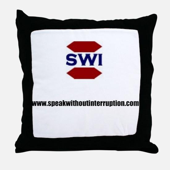 SWI Abbreviated Logo & Addres Throw Pillow