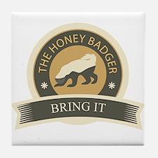 Honey Badger Bring It Tile Coaster