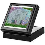 Elephant mazeKeepsake Box