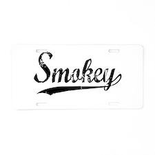Smokey Aluminum License Plate