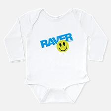 Raver Smilie Long Sleeve Infant Bodysuit