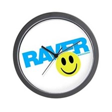 Raver Smilie Wall Clock