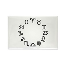 Zodiac signs Rectangle Magnet