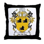 Van Der Aar Coat of Arms Throw Pillow