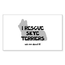 I RESCUE Skye Terriers Decal