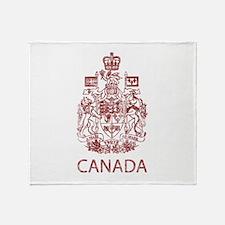 Vintage Canada Throw Blanket