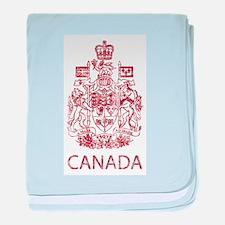 Vintage Canada baby blanket