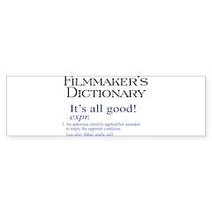 Film Dictionary: All Good! Sticker (Bumper 10 pk)