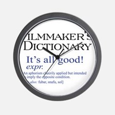 Film Dictionary: All Good! Wall Clock