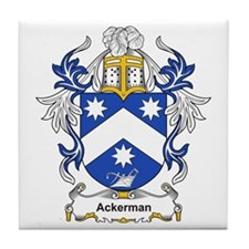 Ackerman Coat of Arms, Family Tile Coaster