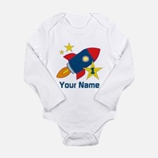 1st Birthday Rocket Long Sleeve Infant Bodysuit