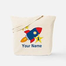1st Birthday Rocket Tote Bag