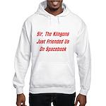 Sir, The Klingons Friended Us Hooded Sweatshirt