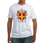 Van Aelst Coat of Arms, Famil Fitted T-Shirt