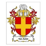 Van Aelst Coat of Arms, Famil Small Poster