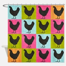 Chicken Pop Art Shower Curtain