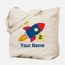 2nd Birthday Rocket Tote Bag