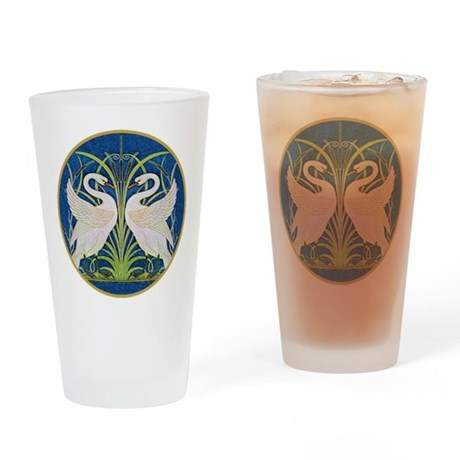 The Swans Drinking Glass