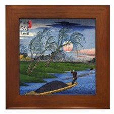 Hiroshige Japanese Landscape Framed Art Tile