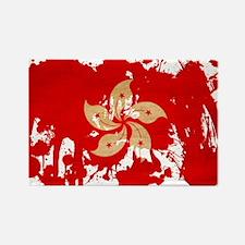 Hong Kong Flag Rectangle Magnet