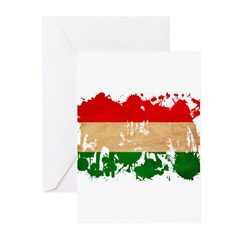 Hungary Flag Greeting Cards (Pk of 10)