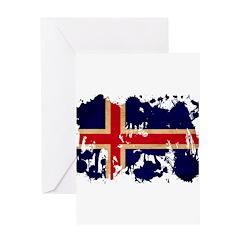 Iceland Flag Greeting Card