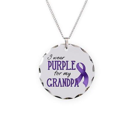 Wear Purple - Grandpa Necklace Circle Charm