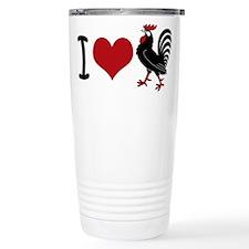 I Heart Cock Stainless Steel Travel Mug