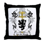 Van der Woude Coat of Arms Throw Pillow