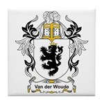 Van der Woude Coat of Arms Tile Coaster