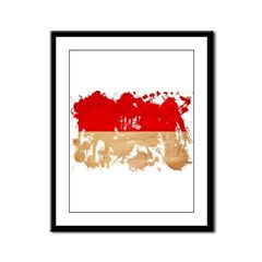 Indonesia Flag Framed Panel Print