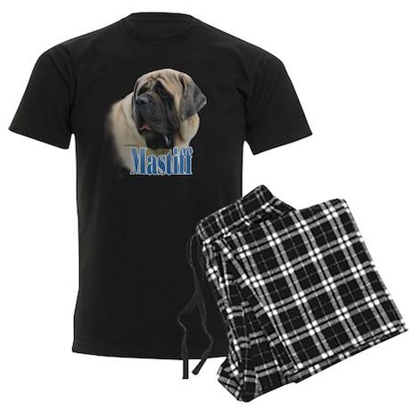 Mastiff(fawn)Name Men's Dark Pajamas