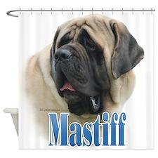 Mastiff(fawn)Name Shower Curtain
